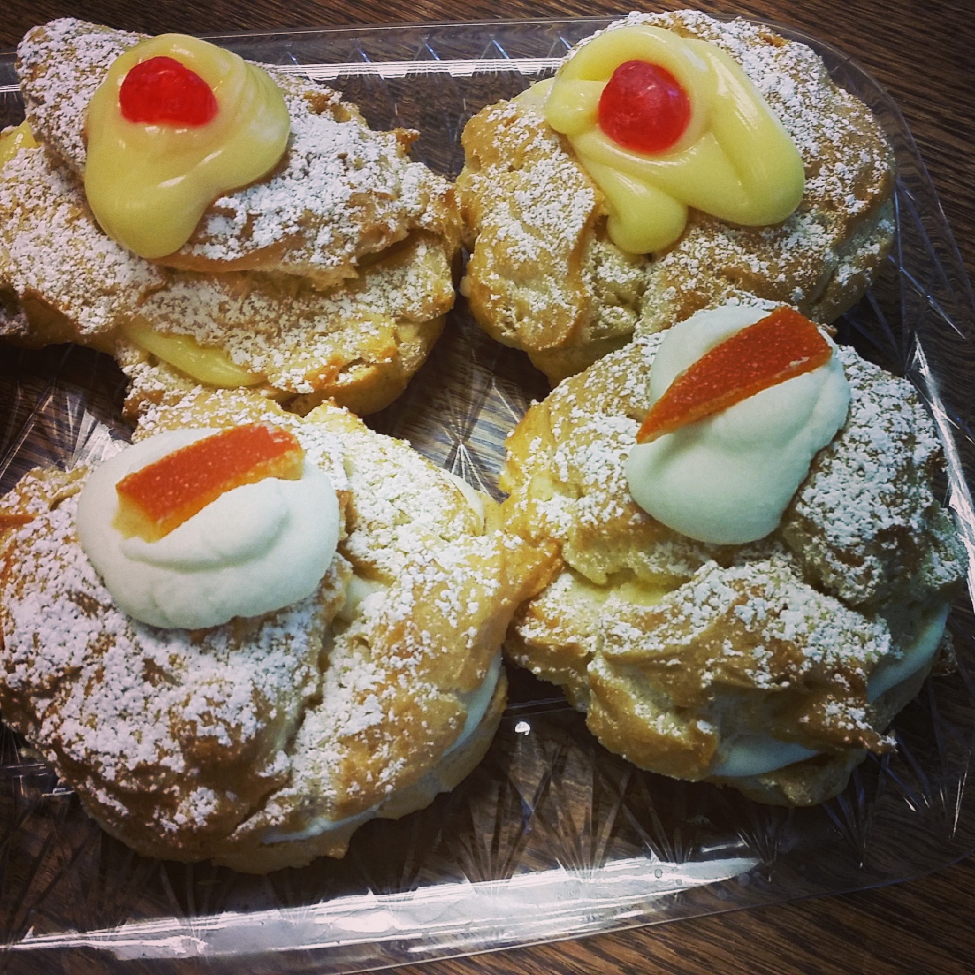 Our Zeppole are baked and filled with custard or ricotta. Made with cage-free eggs and all natural products.